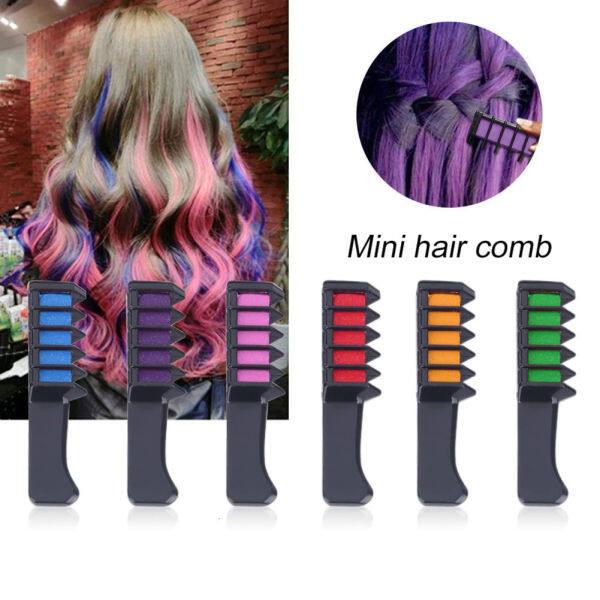 Thời Trang 6 Colors Mini Dùng Một Lần Sử Dụng Cá Nhân Phấn Nhuộm Tóc Màu Comb Dye Kits Tạm Thời Đảng Cosplay Tạo Màu Tóc Ở Tiệm Làm Tóc TSLM2 giá rẻ