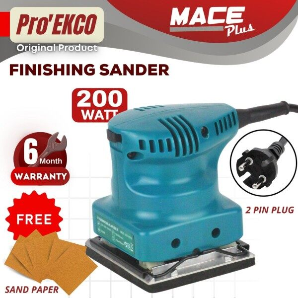 PRO EKCO EK-4510 Finishing Sander Wall Wood Paint Sanding Electric Woodworking Kayu FOC 5pcs Sandpaper