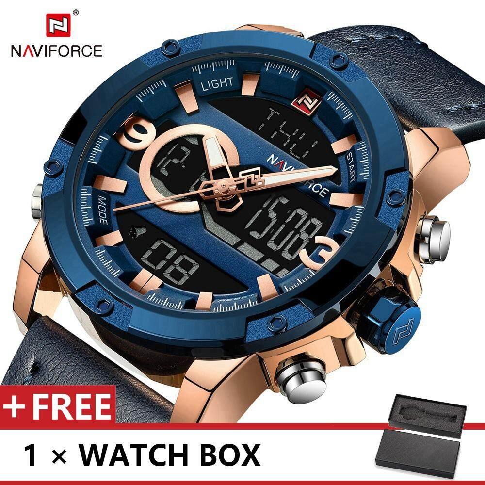 NAVIFORCE 9097 Top Luxury Brand Watch For Man Fashion Sports Men Quartz Watches Trend Wristwatch Gift For Male jam tangan lelaki Malaysia