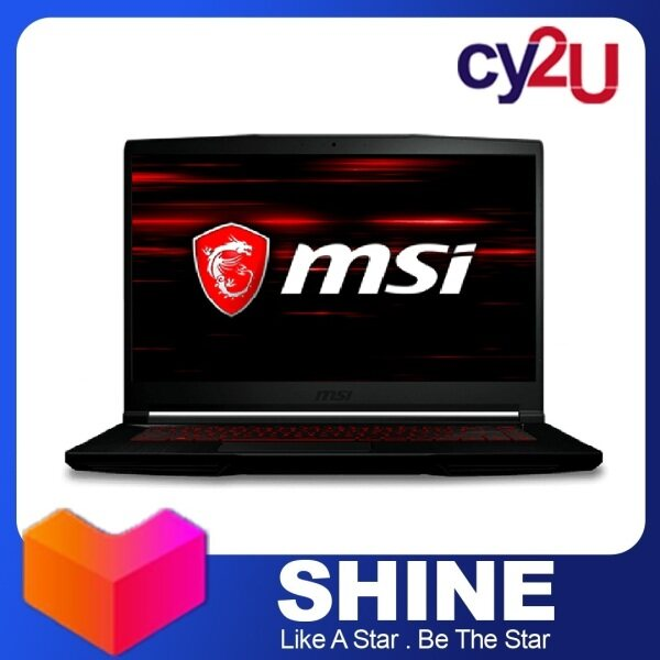 MSI GF63 THIN 9SCXR-604BN 15.6 FHD Gaming Laptop (Intel Core i5-9300H, 4GB RAM, 256GB SSD, NVD GTX1650 Max-Q, Win10) + MSI Backpack Malaysia