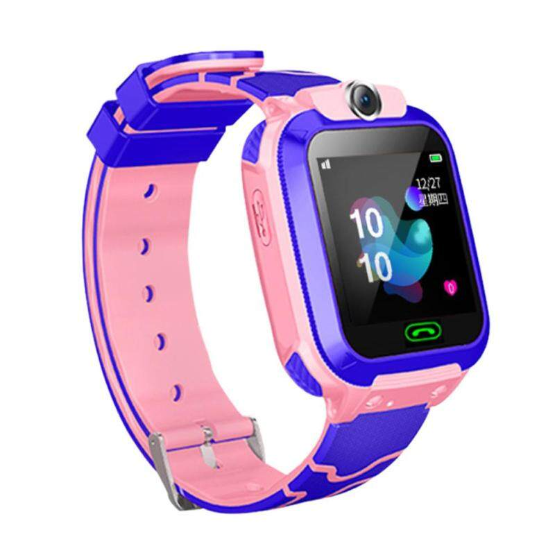 Q12B Childrens Smart Watch Android Insert Card 2G Waterproof Remote Positioning GPS Locator Camera Call Anti-lost Smart Wristband for Kids Malaysia