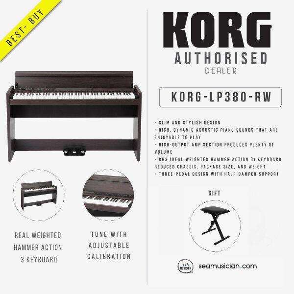 KORG DIGITAL PIANO LP380-RW 88 KEYS DIGITAL PIANO ROSEWOOD FINISH Malaysia