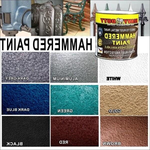 Hot 1L ( 1 LITER ) HAMMERED PAINT ( METALLIC PAINT HEAVY DUTY ) HAMMERTONE /  HAMMERITE Direct to rust Metal paint / wpc