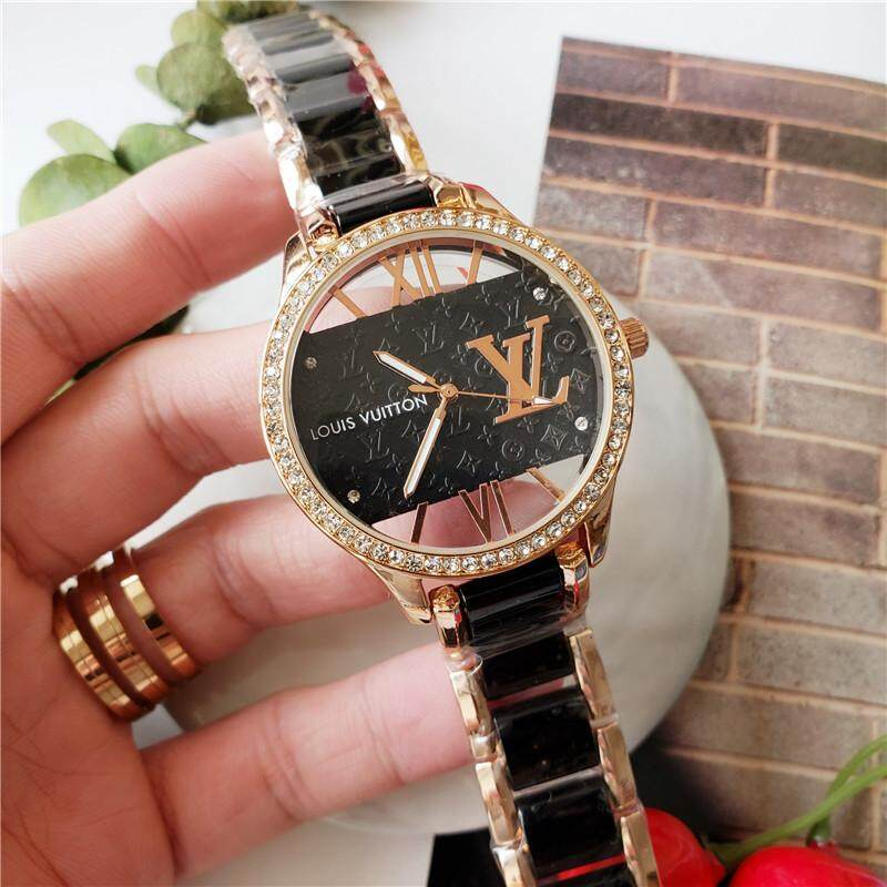 Original_Louis Vuitton ladies hollow series rhinestone dial quartz watch Malaysia