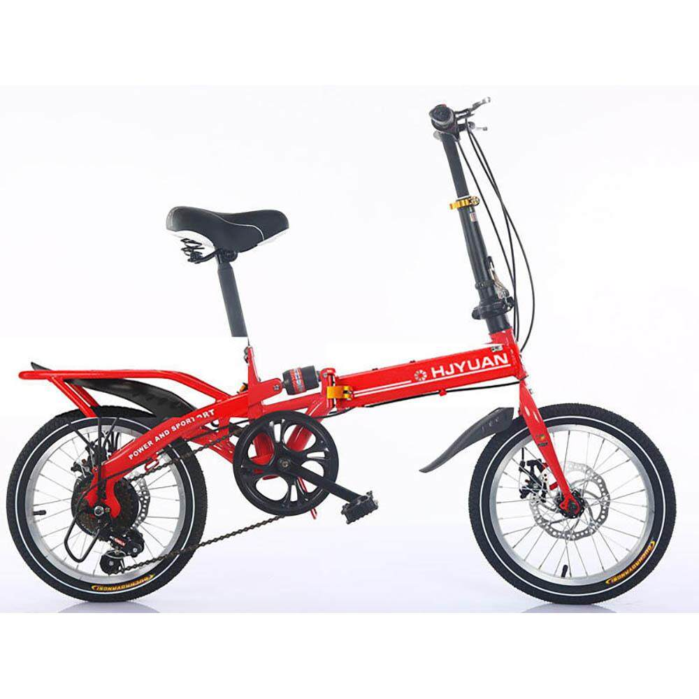 893c6abcd9a (2019 Release) Kumronmo Lightweight Foldable Bicycle Carbon steel car 16  inch Brake single speed
