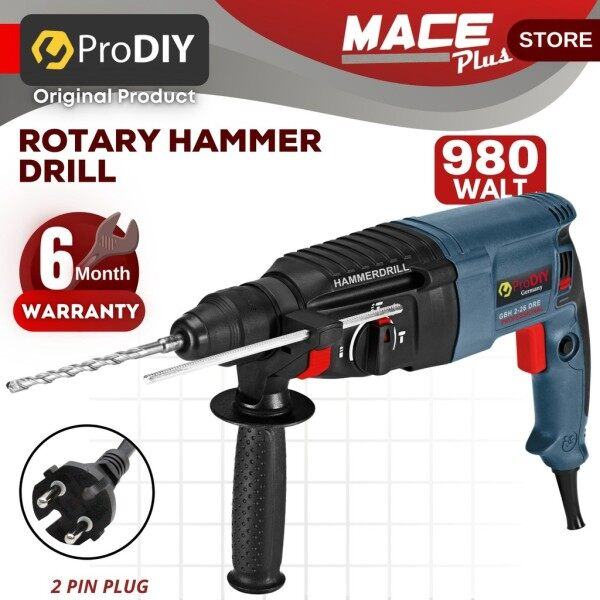 PRODIY GBH 2-26 DRE Drill Rotary Hammer Drill 3 Mode With Handle 980W SDS 26mm