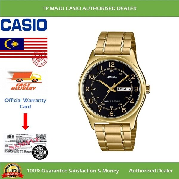 [PRE-ORDER] CASIO MTP-V006G Analog Men's Casual Formal Luxury Watch Water Resistant Black Dial with Day and Date Display & Stainless Steel Band for Men - MTP-V006G-1BUDF ( Official 2 Years Warranty ) Courier in 7 days (ETA: 2021-09-22) Malaysia