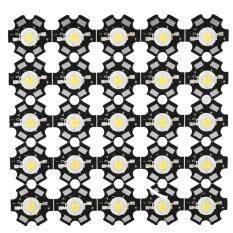 25 Chiếc Bóng Đèn Rọi 3W 3.2-3.4V, Nguồn Sáng Chip Tích Hợp Đèn LED Dạng Hạt