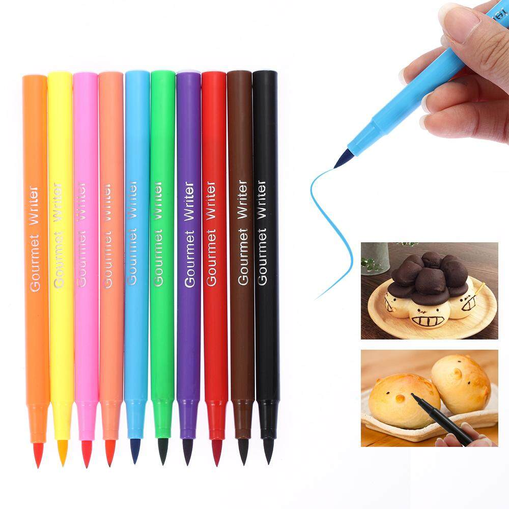 1* Edible Decorating Fondant Biscuits Cake Brush Food Coloring Pigment Pen  Drawing