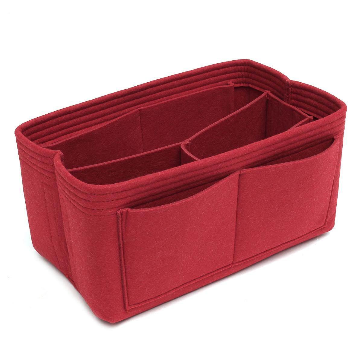 Neat felt bag organizer for Louis Vuitton Speedy 30 and 25(red 12x17.5x26cm)