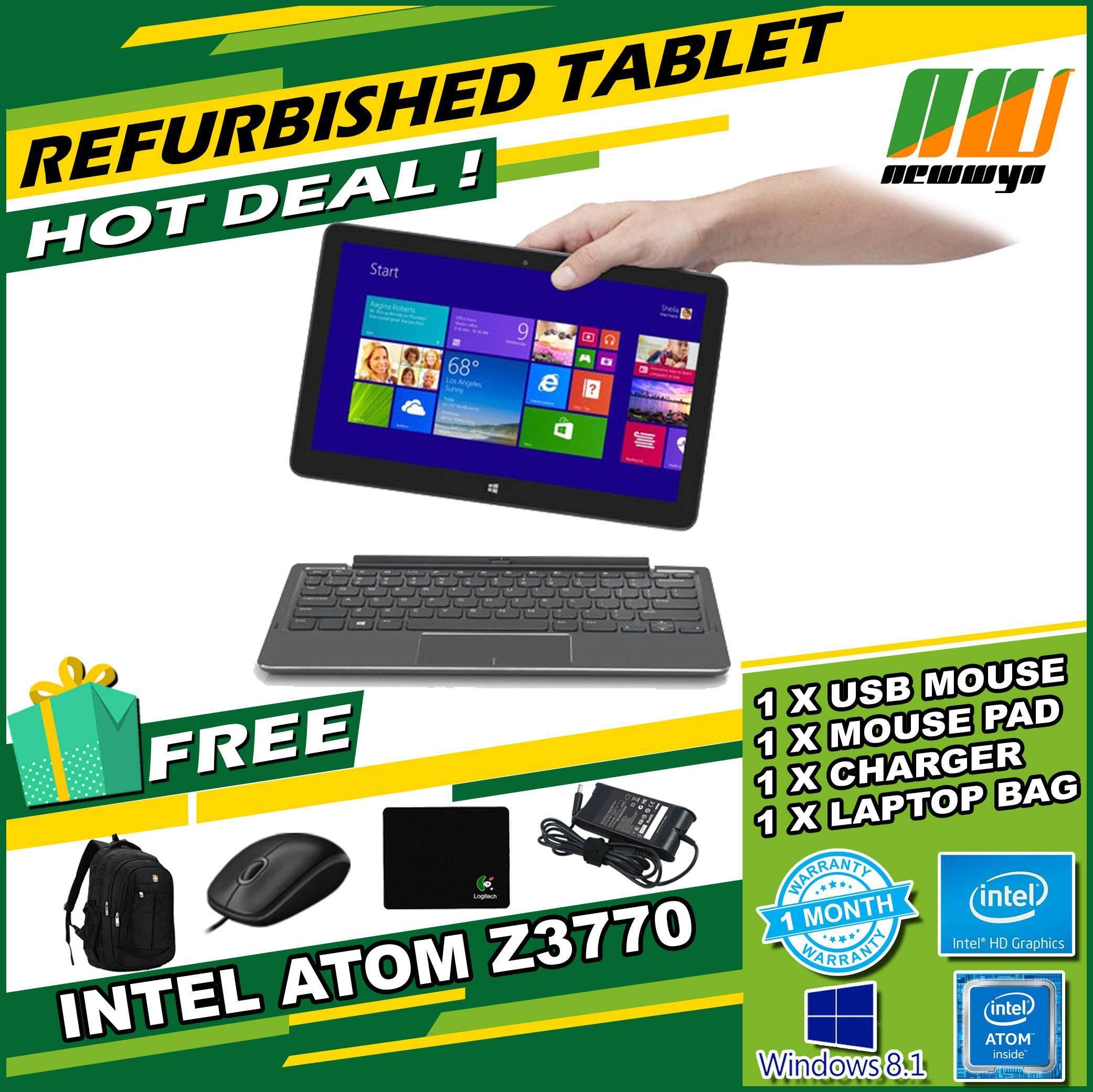 Refurbished Dell Venue 11 Pro 5130 Tablet (10.8, Intel Atom, 2GB RAM, 64GB eMMC, W8) - With Keyboard Malaysia