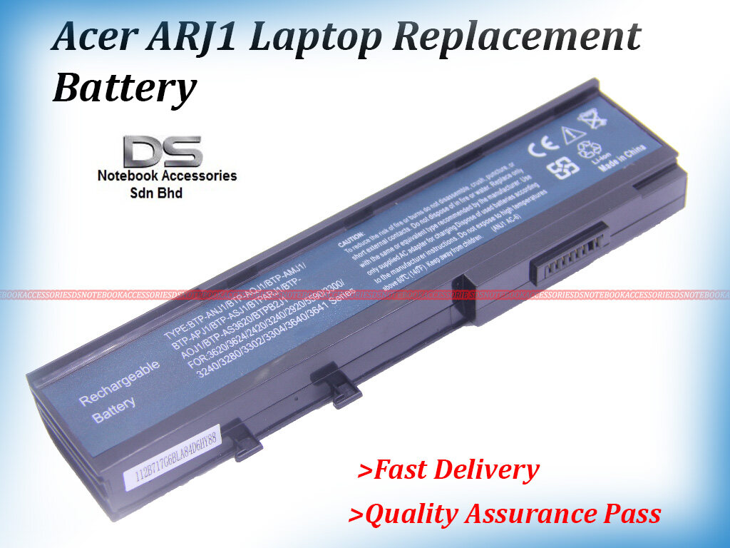 REPLACEMENT Laptop Battery for Acer Extensa 4630Z / Acer ARJ1 Laptop  Battery Malaysia