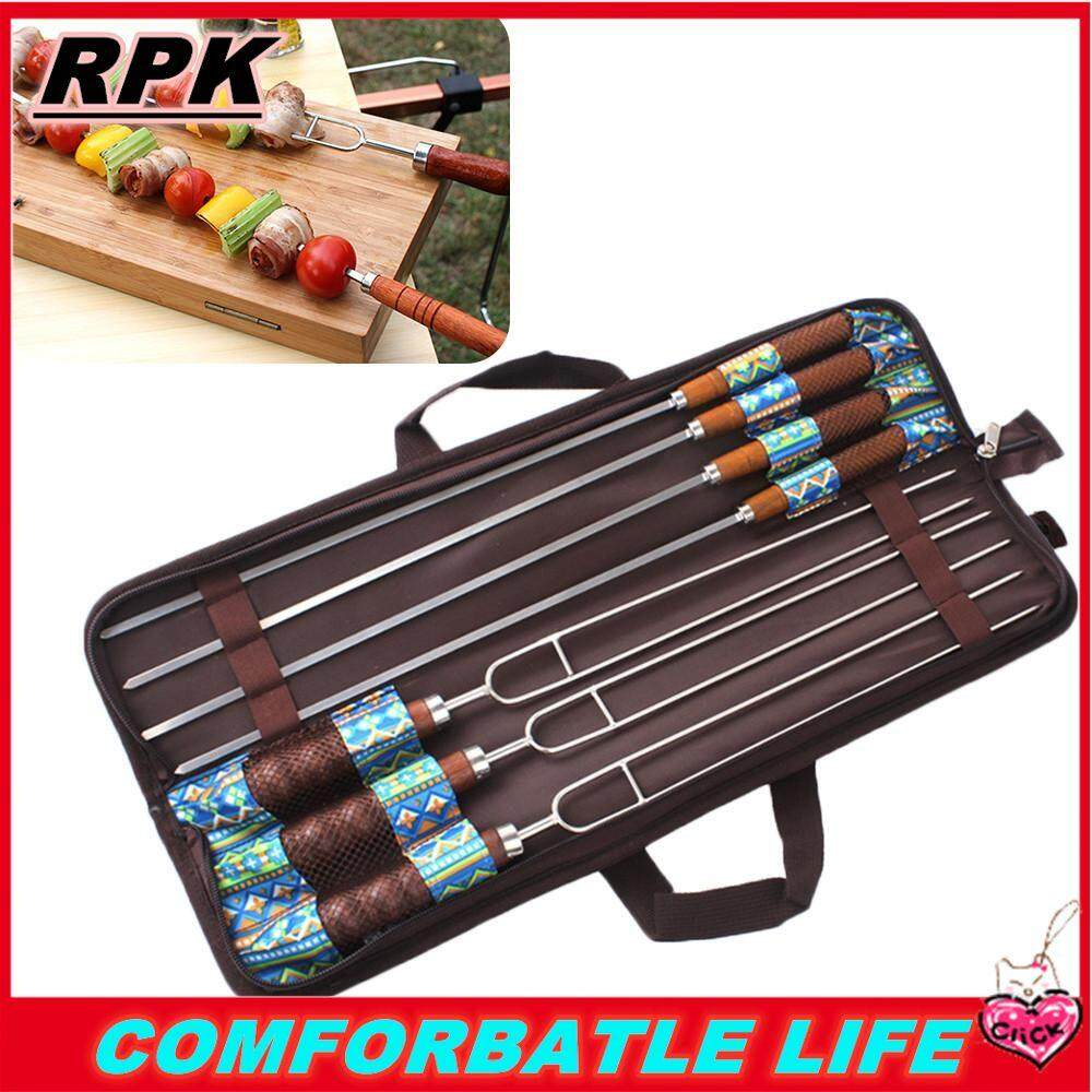 Rpk【cod】【free Shipping】7x Cây Xiên Đồ Nướng Inox Xiên Đồ Nướng Nướng Kebab Dính Kim Chỉ Tiện Dụng