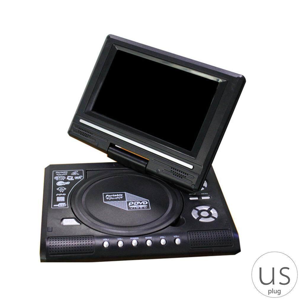 Portable DVD Player 270 Degree Rotation Screen HD Video Player Travel Mini DVD Playing Device US Plug