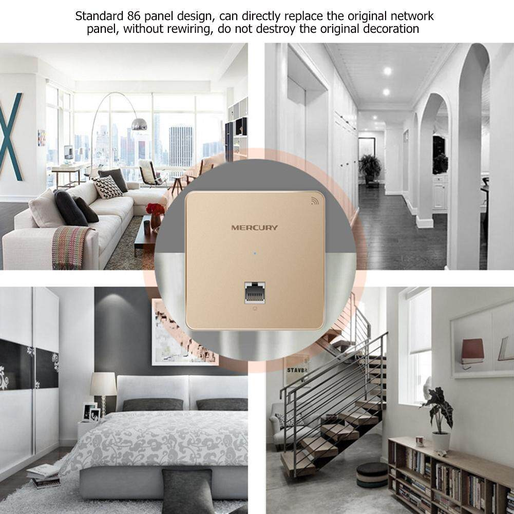 86 Type 300Mbps in-Wall WiFi Wireless Panel Socket AP Access Point (Gold)