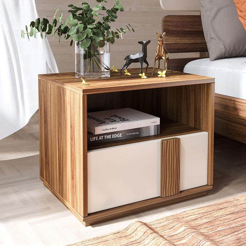 Linsy Modern bedside table, mini storage locker, bedside table, bedside cabinet, environmentally friendly, CP1B High quality wooden board, storage design