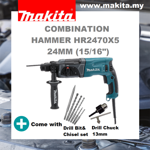 MAKITA Rotary Hammer HR2470X5 24mm (15/16)