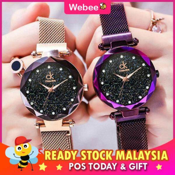 WEBEE Malaysia Women JT CK Starry Lady Watch Magnetic Buckle Stainless Steel Watch Jam Tangan Wanita Malaysia