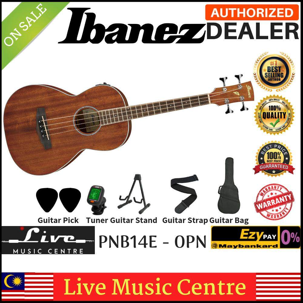 Ibanez Pnb14e-Opn Open Pore Natural Acoustic-Electric Bass Parlor Body (pnb14e) By Live Music Centre.