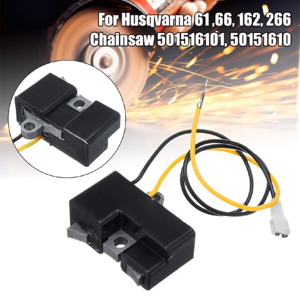 DIY Tools - Igniton Coil Module For Husqvarna 61 ,66, 162, 266 chainsaw 501516101, 50151610 - Home Improvement