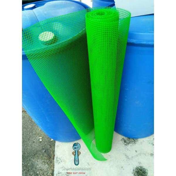 【1 meter x 3 feet】6mm*6mm PVC Nylon Green Mesh | Jaring Hijau |Green Square Mesh