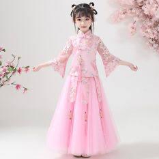 Váy Cổ Tích Trung Hoa Cho Bé Gái, Váy Công Chúa Hán Phục Trẻ Em Cách Cổ Điển Giá Rẻ