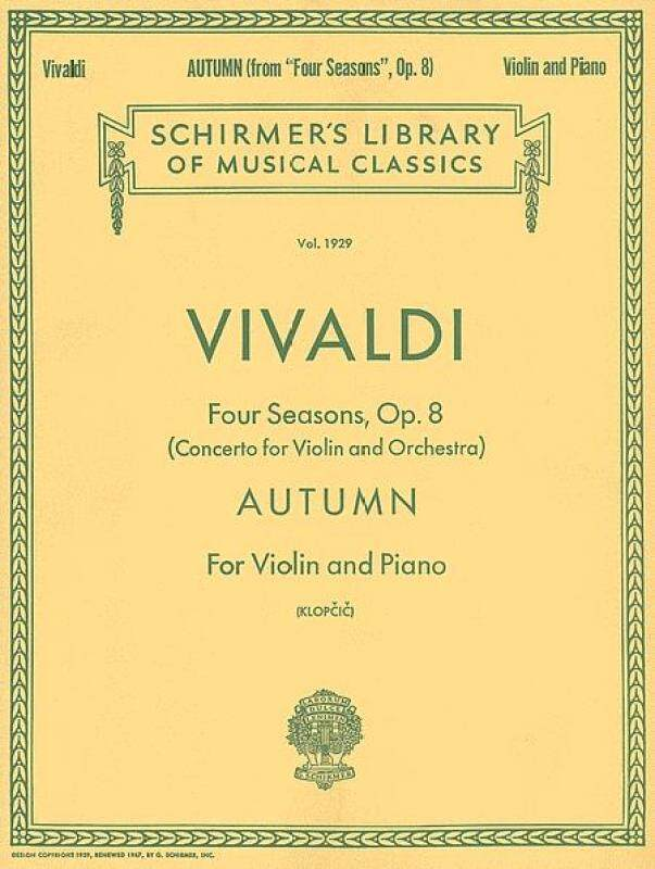Schirmer Library of Classics Volume 1929 Violin and Piano Malaysia
