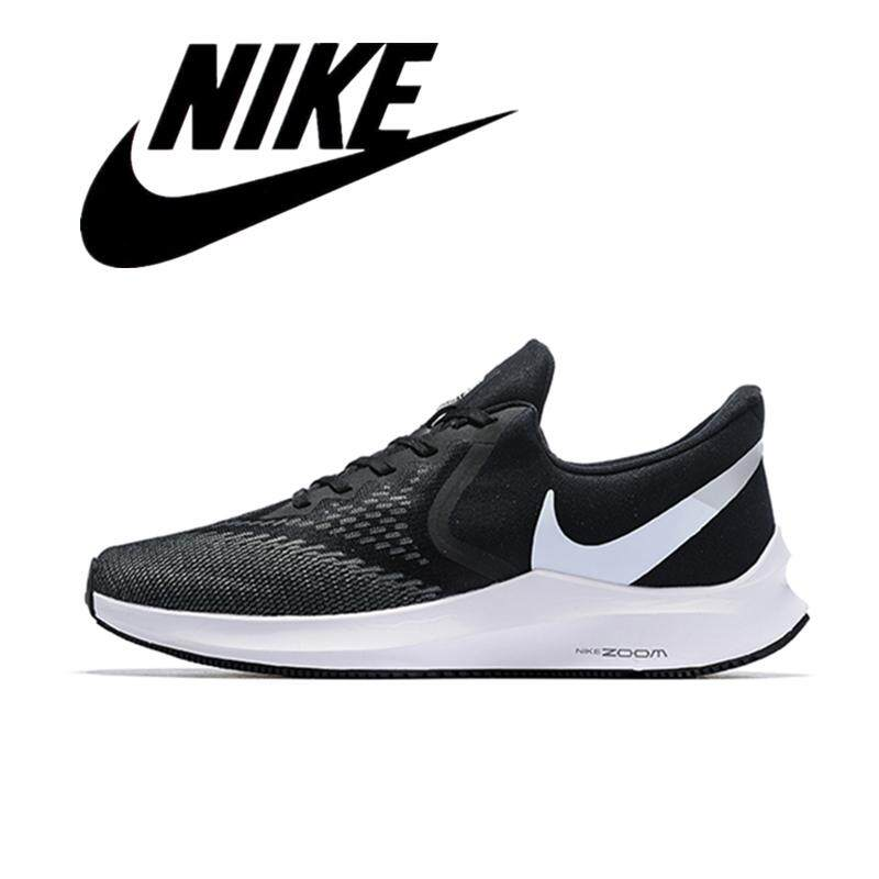 NIKE_AIR ZOOM_PEGASUS 36 FLR Men's Sneakers Lightweight Running Shoes Black Gray White 40-45#1