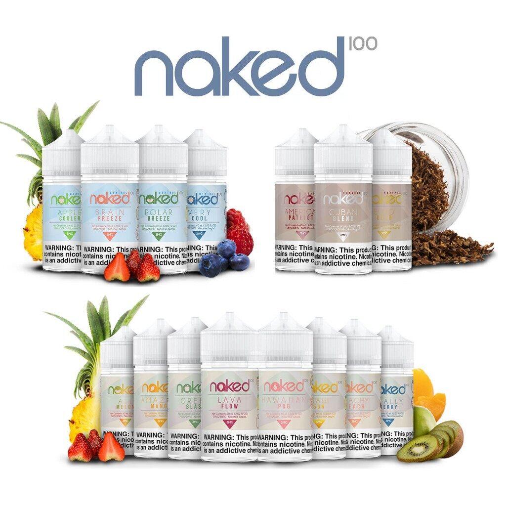 GENUINE Naked 100 Full Series (60ml) Free Base USA E-Liquid E-Juice Flavor  Vape E-Cigarette (From Vape Lab) | Lazada