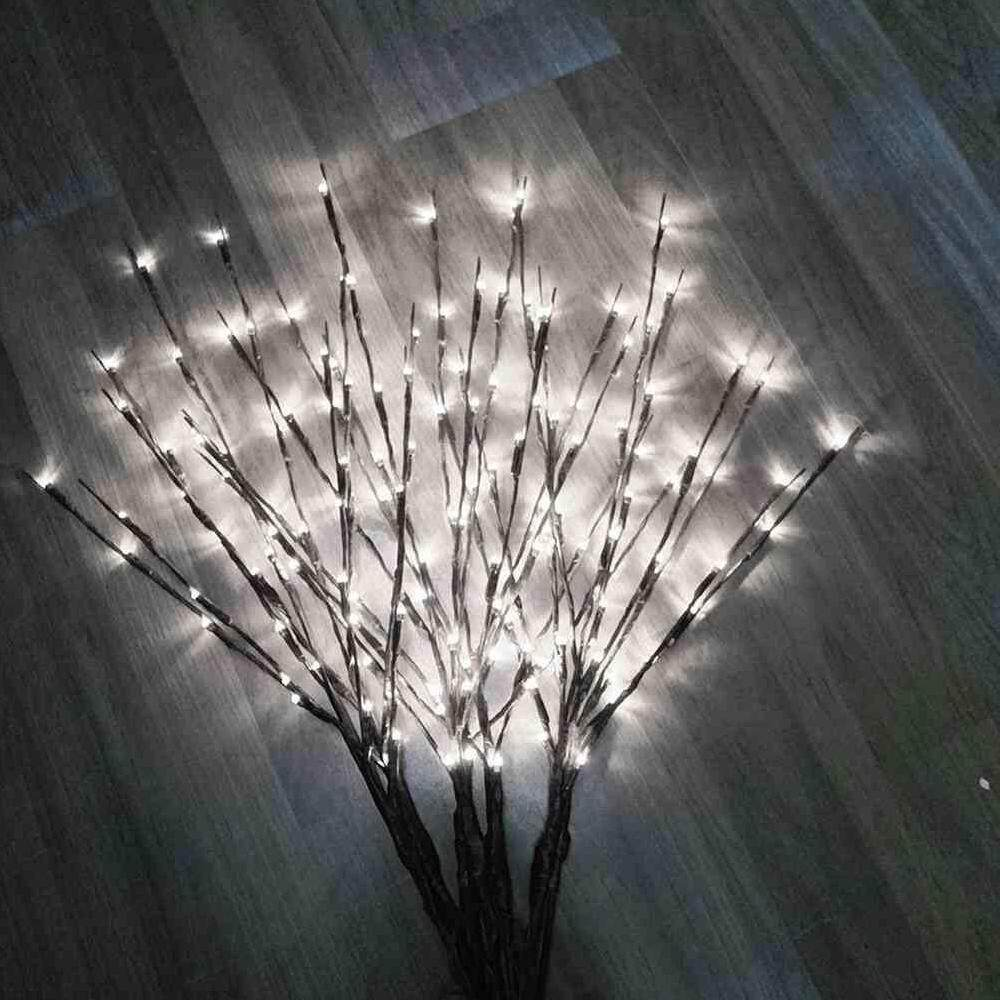 Dsan 1 Pcs 77cm/30Inches LED Willow Branch Lamp Floral Lights 20 Bulbs Home Christmas Party Garden Decor Christmas Singapore