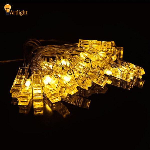 Kẹp Chốt Ảnh LED 20, Hình Dạng Treo Hình Ảnh, Cổ Tích Chuỗi Đèn Pin Điện