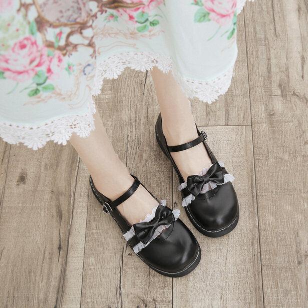 ❡☂☎Giày Nữ 2020 Mới Lolita Thời Kỳ Mùa Xuân Và Mùa Thu Và Giày Đơn Nhật Bản Dễ Thương Đầu Tròn Đế Bằng Meruru Mềm Mại Giày Con Gái giá rẻ