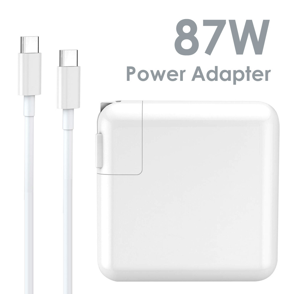 87W USB-C Power Adapter Charger Fast USB Type-c Laptop Charger Compatible with MacBook Pro 15 A1707 Mac Book Pro 13 A1706 A1708 with 6Ft USB-C Charge Cable