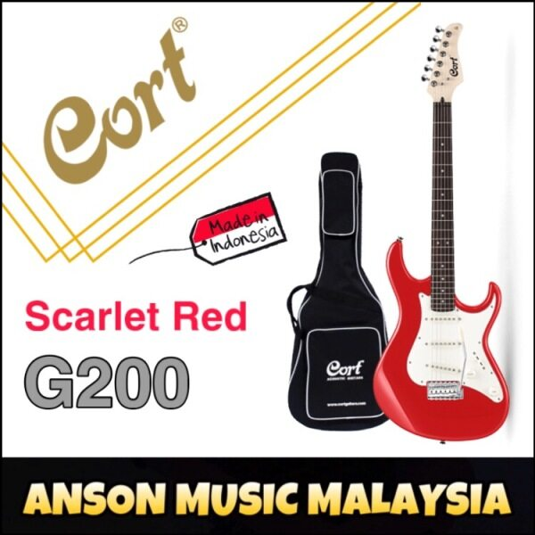 Cort G200 Electric Guitar, Scarlet Red Malaysia