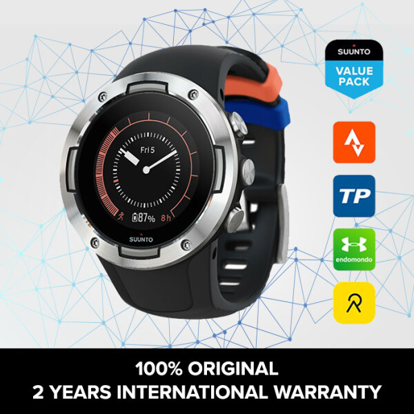 SUUNTO 5 BLACK STEEL - COMPACT GPS SPORTS WATCH WITH GREAT BATTERY LIFE Malaysia