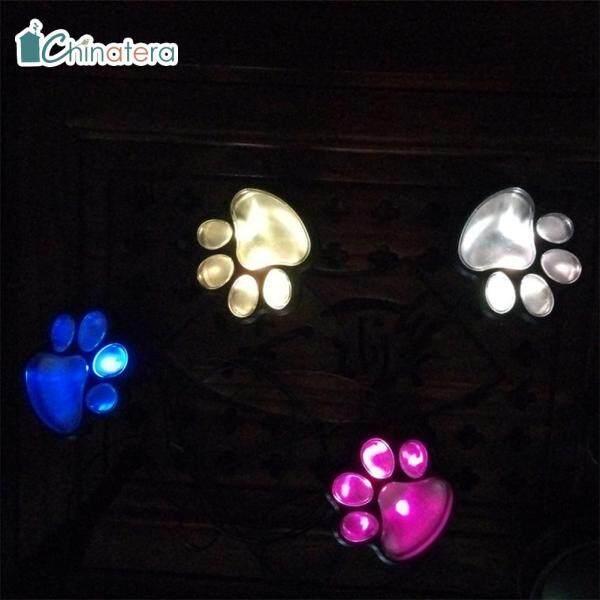 Đèn Trang Trí 4 Chân Hình Mèo Chinatera, Đèn Năng Lượng Mặt Trời, Dễ Thương, Dùng Trang Trí Ngoài Trời, Trong Vườn, Đèn Lồng LED