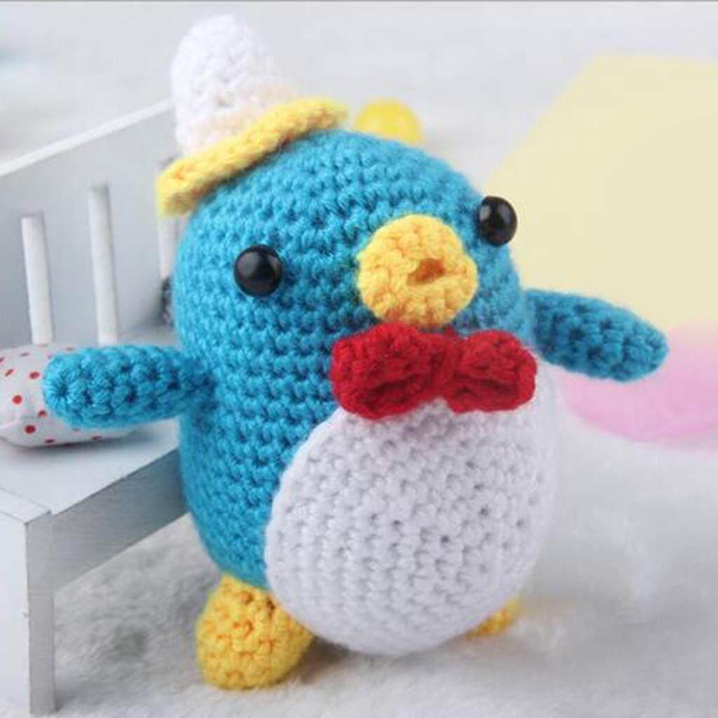 Magideal Diy Penguin Doll Crochet Kit For Beginners Hand Knitting Animal Stuffed Toy By Magideal.