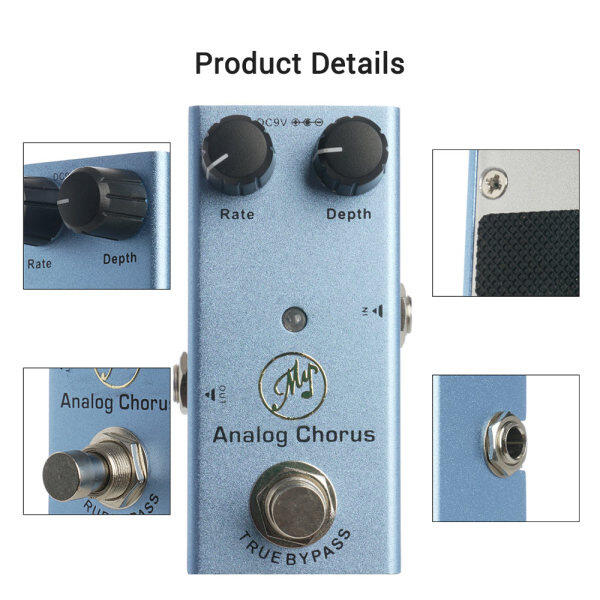Analog Chorus Guitar Effect Pedal with Depth and Rate Knobs Mini Single Pedal for Electric Guitars to Create Fresh and Extensive Chorus Effects DC 9V Dark Blue Malaysia