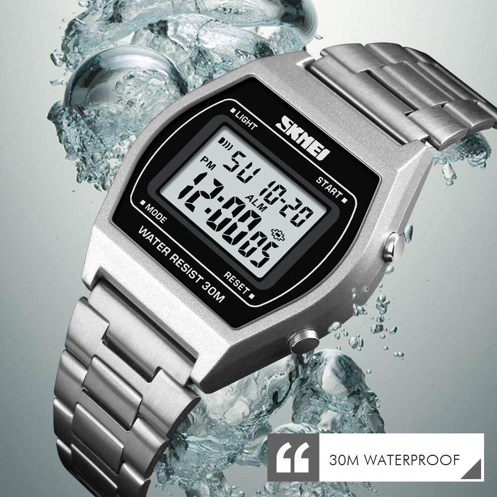 SKMEI Top Brand Outdoor Wristwatches Men Lady Luxury Digital Clock Stopwatch Fashion Man Clock Watch Waterproof Electronic Watches Malaysia