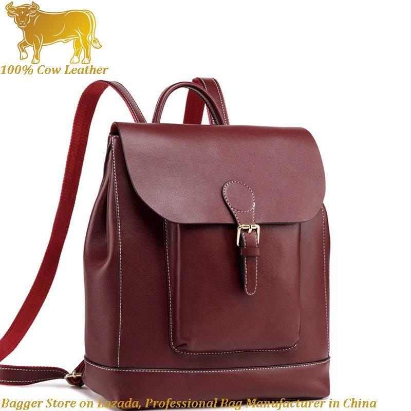 59c5e15cda Italy Genuine Cow Leather Women Backpack New Shoulder Bag Large Capacity  Fashion Leisure Travel Bag Handbags