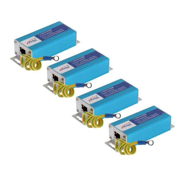 Miracle Shining 4 Pieces RJ45 Gigabit Ethernet Network Surge Protector Lightning Arrester