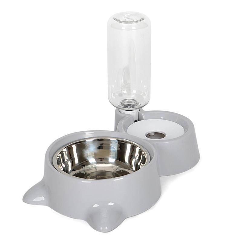 [Newkits] Máy Nhả Đồ Ăn Vật Nuôi Tự Động Thiết Bị Đựng Nước Uống Chó Mèo Bát Uống Nước Cho Thú Cưng Chó Khay Cho Ăn Màu Xám