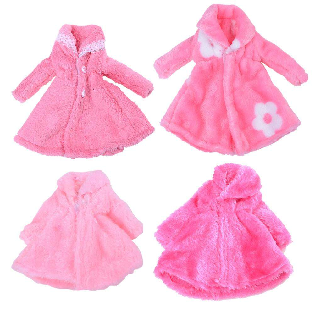 """New Arrival!1PC Pink Fluffy Coat In Winter  For 12/""""Blythe Doll"""