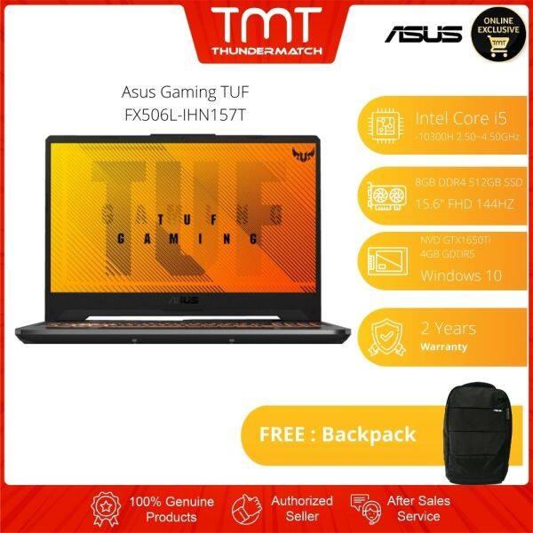 Asus Gaming Laptop TUF FX506L-IHN157T | i5-10300H | 8GB 512GB SSD | 15.6FHD 144Hz | GTX1650Ti | W10 | FREE BAG Malaysia