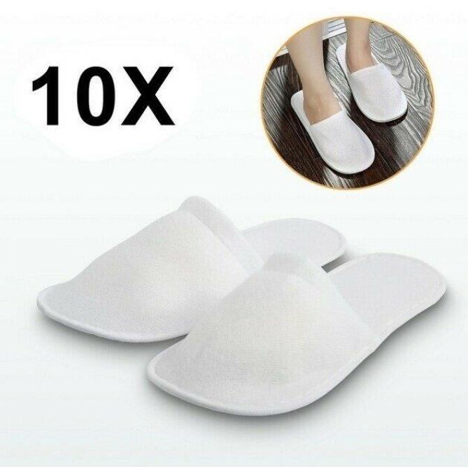 10 đôi Màu trắng Vải không dệt dùng một lần Dép khách sạn Dép đi trong nhà Khách sạn Dép đi trong nhà Dép đi trong nhà cho khách Dép xỏ ngón Giày du lịch Dép đi trong nhà giá rẻ