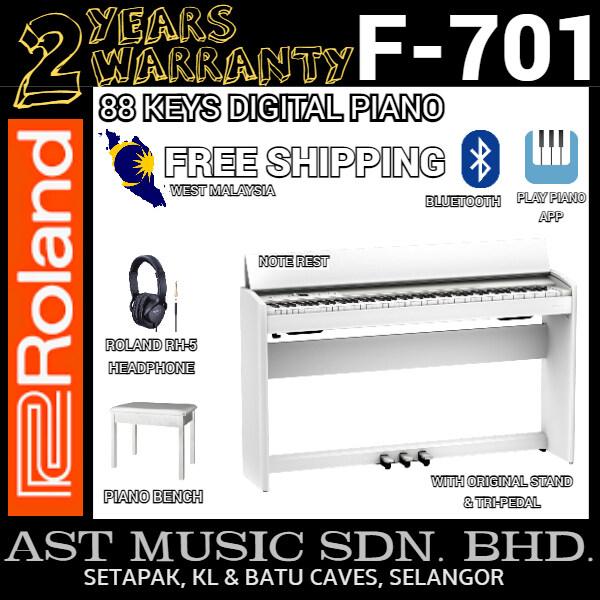 Roland F-701 88-key Digital Home Piano - White (F701 / F 701) Malaysia