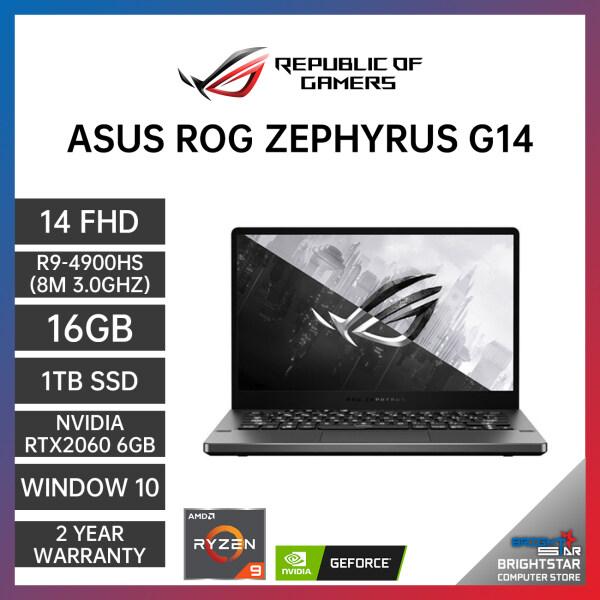ASUS ROG Zephyrus G14 GA401I Gaming Laptop (14 Inch FHD 120Hz   AMD Ryzen   R9-4900HS (8M 3.0GHZ)   16GB RAM   RTX 2060 6GB   Windows 10   2 Years Warranty) Malaysia