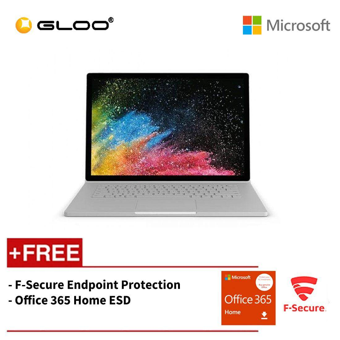 Microsoft Surface Book 2 15  Core i7/16GB RAM - 256GB [FREE F-Secure End Point Protection + Office 365 Home ESD ] Malaysia