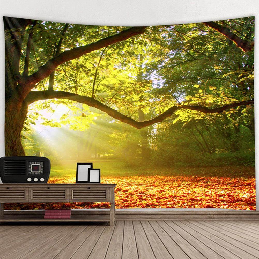 Mã Khuyến Mại Khi Mua Shengzhiding Rừng Tự Nhiên Cấp Phong Cảnh 3D In Treo Tường Polyester Tường Phòng Ngủ Nghệ Thuật Trang Trí