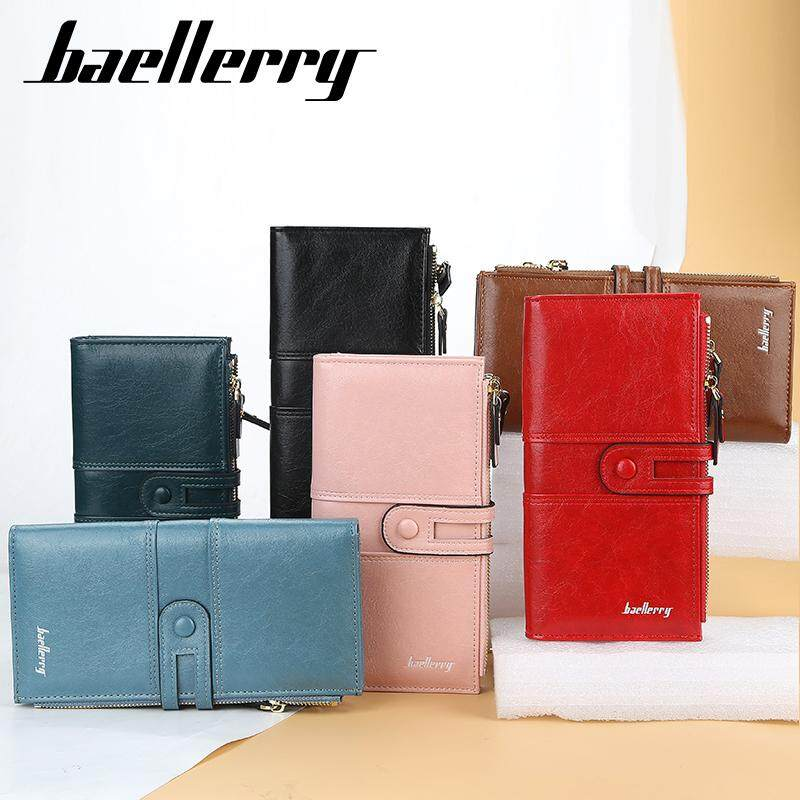 BAELLERRY N1825 Korean Style Women Cell Phone Zipper Leather Wallet Clutch Handbag